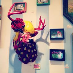 @Melissa Edwards : i can't help but think of Scarlett... Sister golden hair. Taxidermy by Hope Perkins.