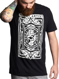 """Men's """"Card Of Protection"""" Tee by Secret Artist Clothing (Black) #inkedshop #cardofprotection #card #protection #tee #tshirt"""
