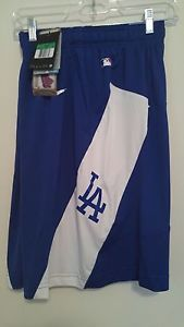 NEW Nike Los Angeles Dodgers Baseball Game Training Shorts MLB AC Dri-Fit 635464