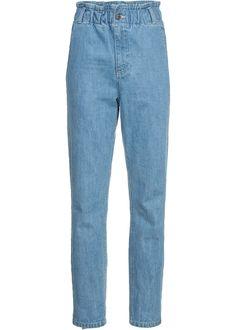 Damen Jeans Hosen relaxed baggy Damenjeans loose fit stretch grau neu