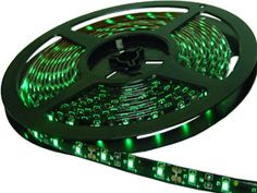 Green L.E.D Light STRIP 300 1-Chip. 5 meter Light Strip on reel. 3M adhesive on the back.