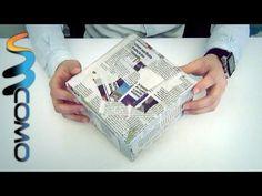 Coisas que Gosto: Revestir caixa com papel de jornal