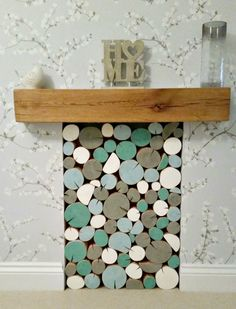 Exceptional Our Rustic Teal Colour Mix Decorative Logs Installed In A Clientu0027s Empty  Fireplace. You Can