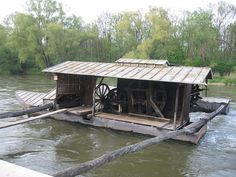 "Floating mill on river Mura, Slovenia | by ""--Z"" at commons.wikimedia.org under PD-license"