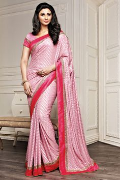 Pink Color Casual Printed Party Wear Sarees From Easy Sarees.