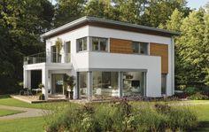 Modernes Passivhaus im Bauhausstil – die neue Stadtvilla  gehört zur Baureihe CityLife.