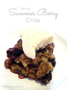 I made you a crisp that's skinny and delish. You know you want me.The crisp, that is. Say hello to the easiest, most delish summer dessert you've ever laid mouth on. Then say goodbye, because it ain't gonna last very long. I asked you lovely readers on Facebook what kind of recipes you'd like to …