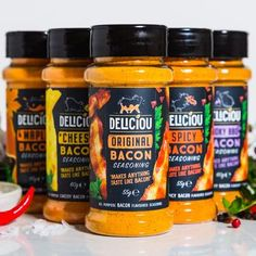 Deliciou's Bacon Seasoning makes anything taste like bacon. As a natural, vegan and healthy seasoning option you can flavor your meal with confidence. With our bacon salt you can turn an average meal into an unbelievable deliciousness. Vegan Vegetarian, Vegetarian Recipes, Cooking Recipes, Healthy Recipes, Rub Recipes, Juice Recipes, Raw Food Recipes, Vegan Food, Beef Recipes