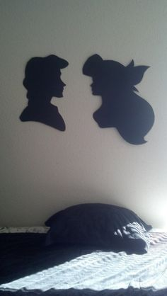 Little Mermaid Ariel and Eric Silhouettes by SoopaThrillaCat, $20.00