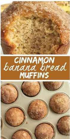 Cinnamon banana bread - Cinnamon Banana Bread Muffins The best banana muffin recipe is moist and topped with cinnamon & sugar sprinkles Tastes like banana bread but in a muffin bananabread muffins snackrecipes Cinnamon Banana Bread, Cinnamon Crumble, Banana Bread Recipes, Cinnamon Muffins, Cinnamon Butter, Banaba Muffins, Banana Muffins 2 Bananas, Easy Banana Bread Muffins, Banana Bread Brownies