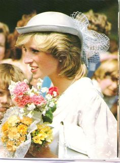 12 July 1983 Diana attends the opening of the Spencer wing at Northampton hospital, with her beloved father, Earl (Johnny) Spencer and his wife Raine