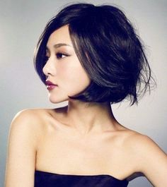 Short and feminine hairstyle for Asian women. A great urban look for living in a big city.