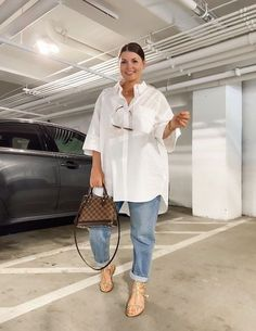 Curvy Girl Outfits, Plus Size Outfits, Plus Size Fall Outfit, Casual Chic Outfits, Trendy Outfits, Fashionable Outfits, Classy Casual, Men Casual, White Shirt Outfits