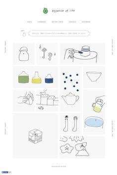 西海陶器「essence of life」 Book Layout, Web Layout, Layout Design, Web Design, Book Design, Graphic Design, Flat Design, Graphic Illustration, Illustrations