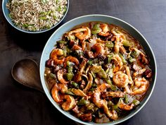 Shrimp and Chicken Etouffee recipe from Food Network Kitchen via Food Network