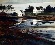 This artwork, Ocean Inlet by Andrew Wyeth, is currently for sale at Alexandre Gallery.