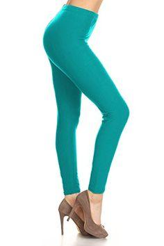 205eb54828a81 Women Leggings For office Leggings Depot Ultra Soft Basic Solid REGULAR  Print Leggings Pants Polyester Spandex High-Quality Soft Fabric Basic Solid  Plain