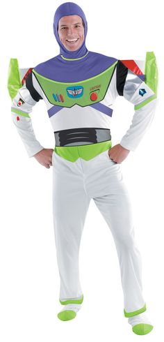 Disney Toy Story - Buzz Lightyear Deluxe Adult Costume Includes jumpsuit, hood, jet pack, glowsticks and boot covers. This is an officially licensed © Disney costume. Weight (lbs) 1.55 Length (inches)