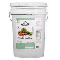 Augason Farms Emergency Food 6-Gallon Freeze Dried Vegetable Variety Pail 4 lb