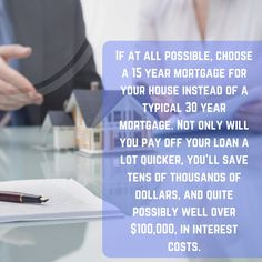 When choosing your mortgage. #homeloan #savingadvice