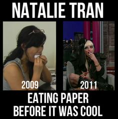 For all you Natalie Tran fans.<3