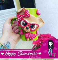 Cute Mug, Cool Mugs, Polymer Clay Projects, Polymer Clay Creations, Diy And Crafts, Arts And Crafts, Cute Disney Drawings, Clay Cup, Mug Art