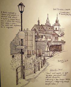 Třebíč, Jewish Quarter (Czech Republic) by picturesofmaya Jewish Art, Czech Republic, Deep Purple, Ancestry, Art Sketches, Paris Skyline, Urban, Landscape, City