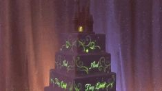 Animated Disney Magic Can Now Be Projected Onto A Wedding Cake! This is amazing! Magical Wedding, Perfect Wedding, Frozen Wedding, Dream Wedding, Wedding Bells, Wedding Bride, Twisted Disney, Disney Cakes, Marrying My Best Friend