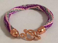 Zig Zag Round Braid with Rose Gold Copper Findings £8 + Postage on my eBay lns_jewlery