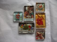 Hey, I found this really awesome Etsy listing at https://www.etsy.com/listing/253319446/6-vintage-up-cycled-christmas-us-postage