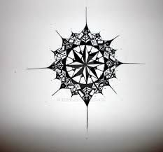 Image result for compass rose  sternum tattoo