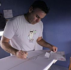 Three surfboards is all you need.: Mat Biolos, from ...Lost Surfboards and Mayhem shapes.