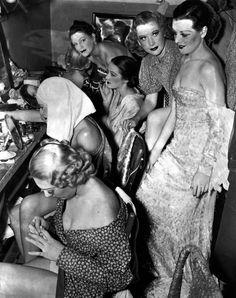 Present and past Ziegfeld Follies chorus gals, September 2, 1941. Famous Ziegfeld girls include Lillian Lorraine, Barbara Stanwyck, Fanny Brice and Marion Davies.