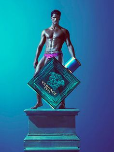 After the preview here is the full campaign of Versace new fragrance for men Eros, inspired by Greek mythology, featuring Brian Shimansky photographed by Mert Alas & Marcus Piggott.