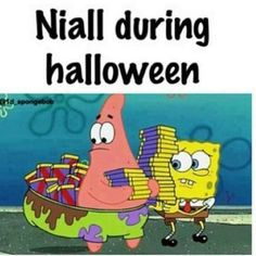 Ahahaha! I love how many one direction funny things are illustrated by spongebob and Patrick :D