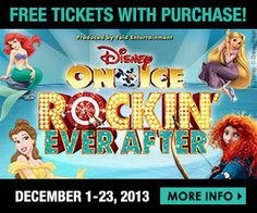 Spend $250 or more in one day at Desert Ridge Marketplace between December 1-23 and receive 2 FREE tickets to Disney on Ice presents Rockin' Ever After at US Airways Center. Free tickets are valid for either Friday, January 10th at 7pm or Saturday, January 11th at 7pm.