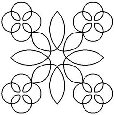Quilt Stencil Counrty Floral By Central Press Publication - Country Floral Block continuous line stencil. Stencil is made of Mylar plastic with the displayed design cut into it. Hand Quilting Designs, Quilting Stencils, Quilting Templates, Longarm Quilting, Free Motion Quilting, Quilting Tutorials, Bead Embroidery Patterns, Quilt Patterns, Embroidery Designs