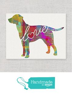 Lab / Labrador (Chocolate, Yellow, Black) Love - An Unframed Canvas Paper / Watercolor-Style, Contemporary & Modern Dog Breed Wall Art Print - Personalization Optional (Ships Free) from traciwithani http://www.amazon.com/dp/B019WO0220/ref=hnd_sw_r_pi_dp_ciwZwb0EWQ2JB #handmadeatamazon