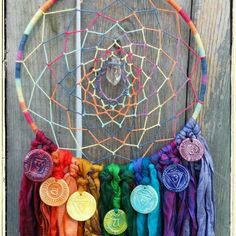 Chakra Dream Catcher just listed today ✌ check out the shop as tomorrow our Sale ends.