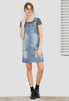 Denim Overall Dress - Dresses - 2000142164 - Forever 21 EU English