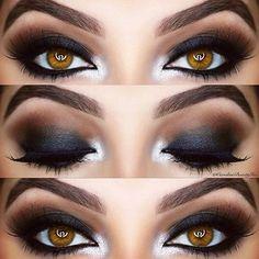 ➰ Amazing smokey eye look by @carolinebeautyinc using her Arctic Pro complete of her #makeupaddictioncosmetics brushes!✨ #makeupaddictionbrushes