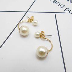 925 Sterling Silver Earrings, Double Ball Earrings, Simulated Pearl Earrings Cooling Mattress, Sterling Silver Earrings, Pearl Earrings, Pearls, Stuff To Buy, Jewelry, Pearl Studs, Jewlery, Bijoux