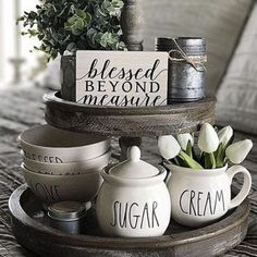 Check out the English Sparrow Tiered Tray at Painted Fox Home. Visit us and find your new favorite pieces of furniture and decorative home decor! Kitchen Tray, Kitchen Island Decor, Farmhouse Kitchen Decor, New Kitchen, Kitchen Ideas, Kitchen Cabinets, Kitchen Islands, Kitchen Inspiration, Modern Farmhouse