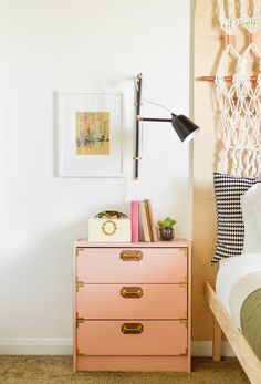 Brighten up your room with painted IKEA dresser.