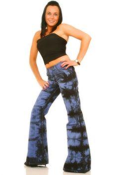 Batik pant Star blue flare pant Bellbottom Hippie