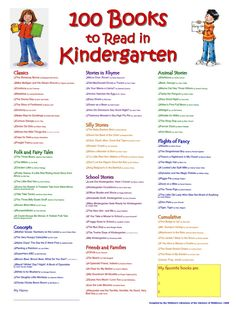100 books to read in kindergarten
