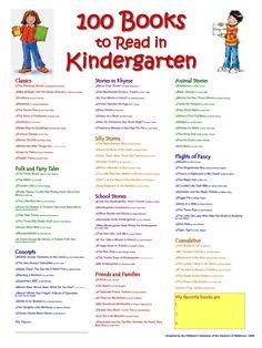 100 Books to Read in Kindergarten; looks like a good list!!