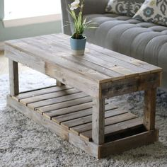 Rustic Coffee Table measures x x with approximately inches of storage height space underneath Cart Coffee Table, Coffee Table Styling, Reclaimed Wood Coffee Table, Rustic Coffee Tables, Palette, Rustic Furniture, Living Room Furniture, Furniture Nyc, Diy Home Decor On A Budget