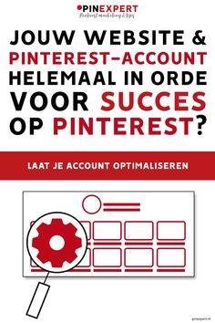 Wil je meer bezoekers naar je website via Pinterest? Het begint bij een goed account. Heb jij een Pinterest-account dat wel wat verbetering kan gebruiken? Maar heb je geen tijd of zin om dit account zelf te optimaliseren? Laat het dan doen!