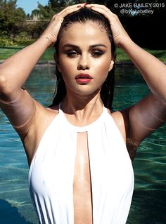 Selena Gomez Sizzles in Plunging White Bathing Suit: Photos - Us Weekly